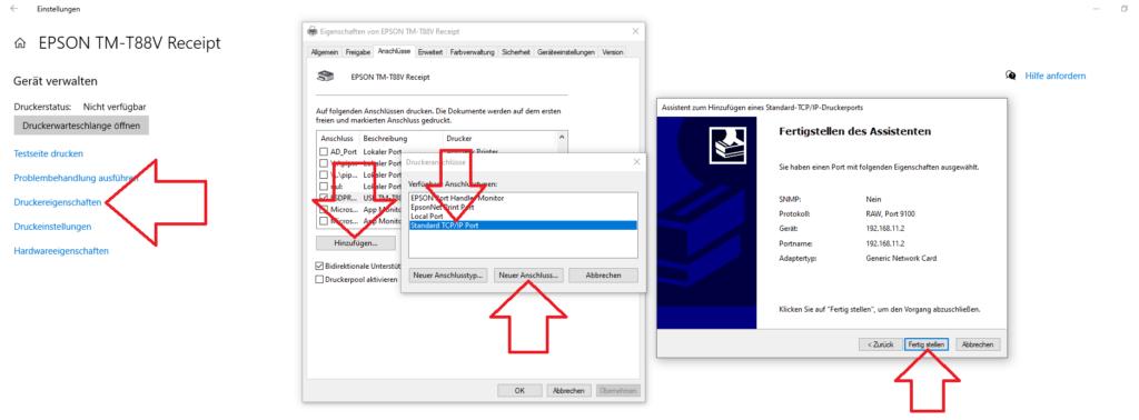 Bondrucker per IP im Netzwerk nutzen