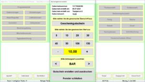 Gastronomie Kassensoftware Bistro-Cash Gutscheine