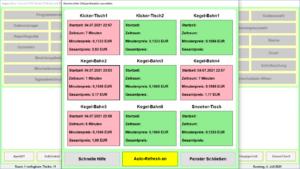 Gastronomie Kassensoftware Bistro-Cash Zeitspeicherplätze