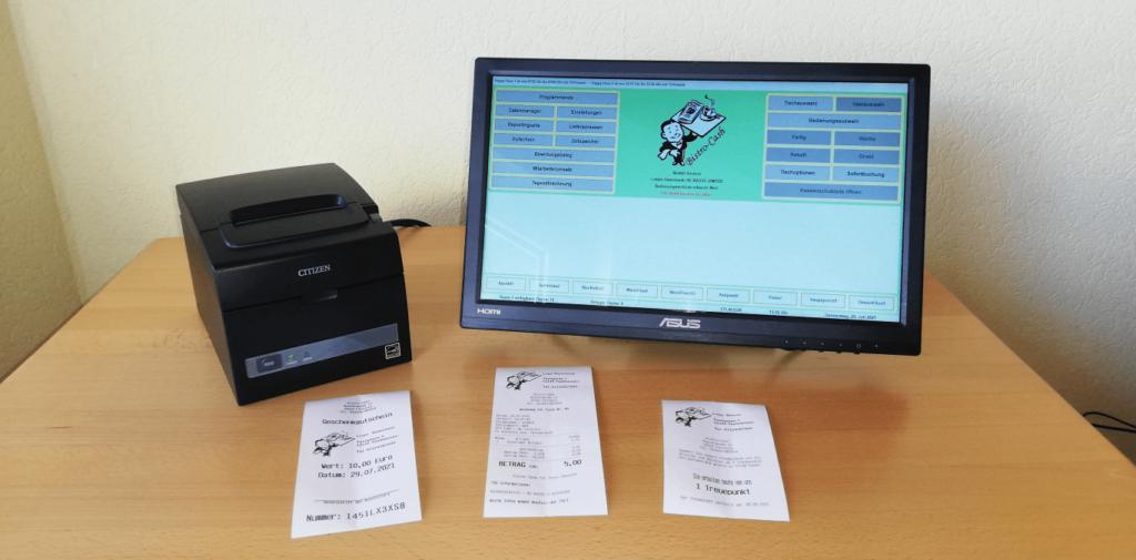 Citizen Bondrucker CT-S310II mit Kassensoftware Bistro-Cash