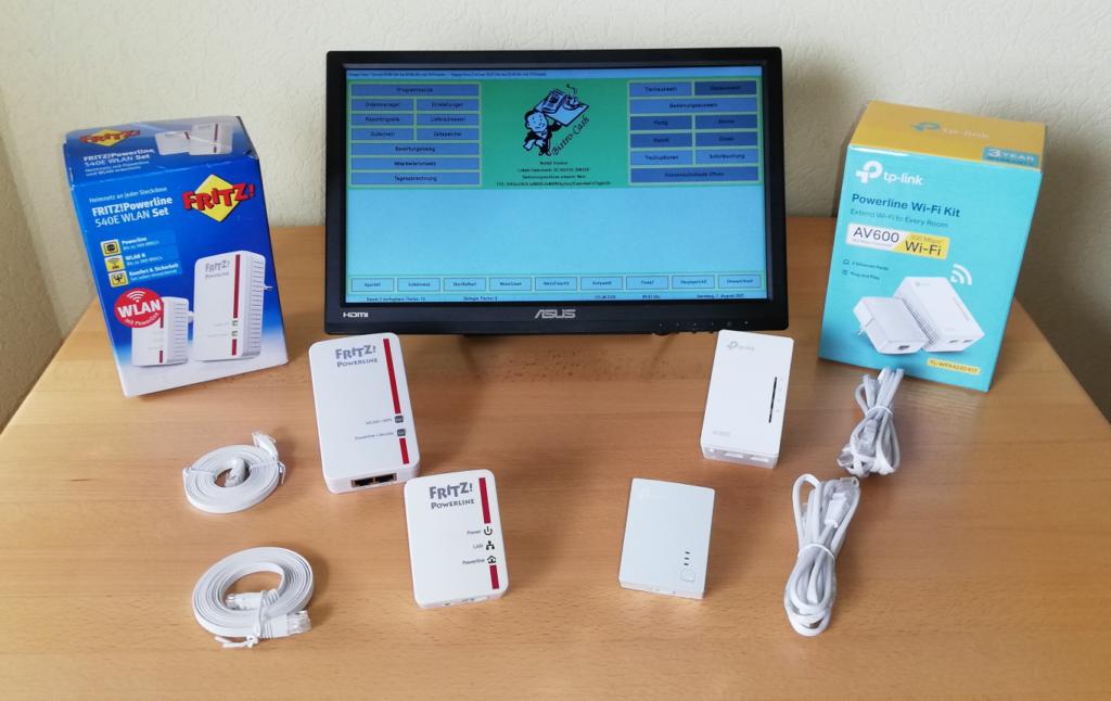 Powerline Adapter Fritz und TP-Link und Kassensoftware Bistro-Cash