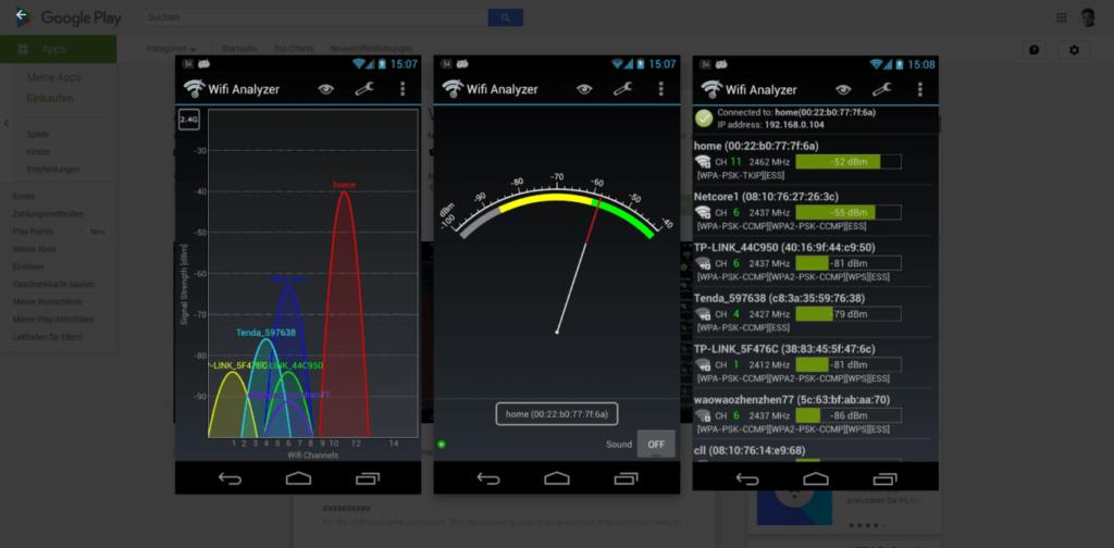 Powerline Adapter Wifi Analyzer App